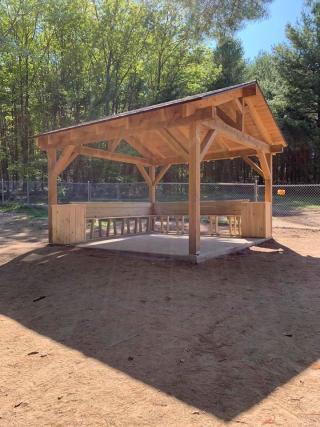 New Pavilion in gated Dog Park