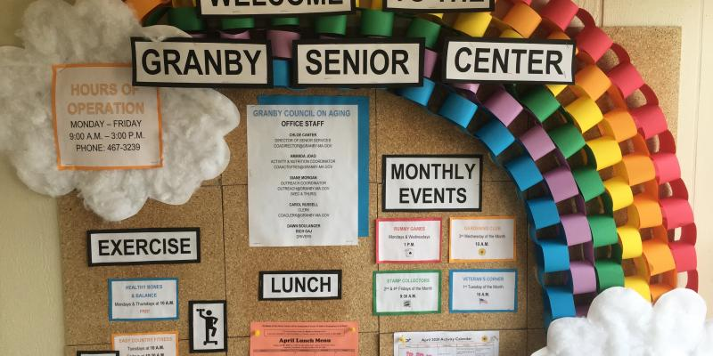 Senior Center Welcoming Bulletin Board